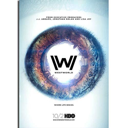 yhnjikl Westworld Stagione 1 Serie TV Show Wall Art Pittura Stampa su Tela di Seta Poster Decorazione per la casa 40X60Cm Senza Cornice