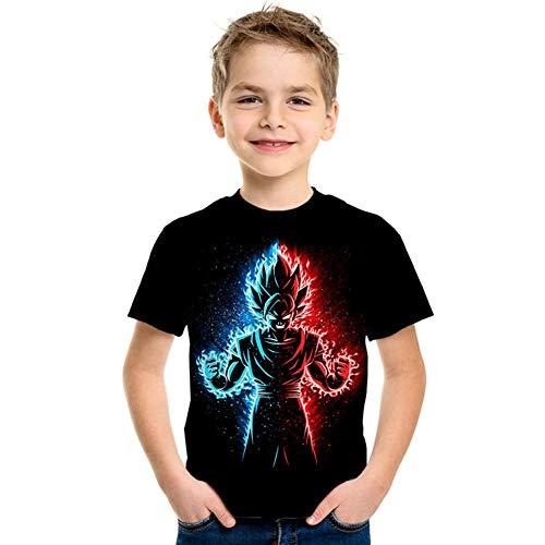 Goku Vegeta DBZ Dragon Ball Super Saiyan Shirt for Kids Anime 3D Print Short Sleeve T-Shirt