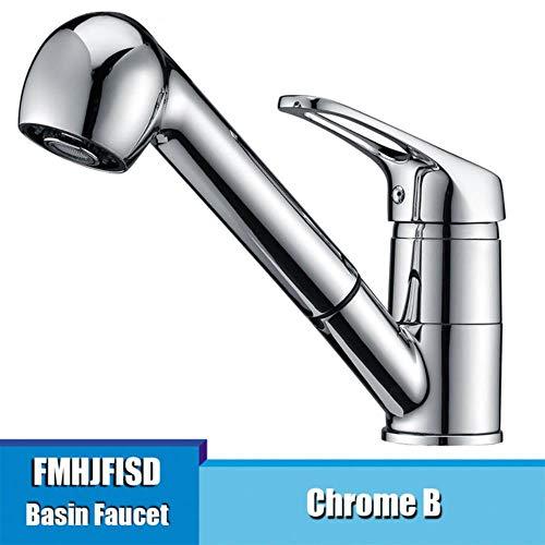 5151BuyWorld waterkraan, kleuren, 360 graden draaibaar, keukenkraan, eenhands-dual outlet water-spray-hand-pull-out voertuig bar badmengkraan gratis verzending == >chroom +