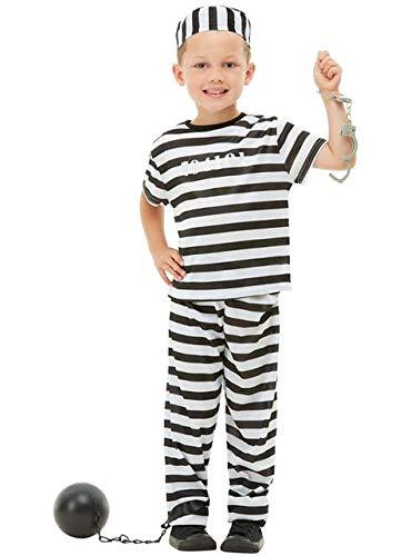 Funidelia | Disfraz de Prisionero para nio y nia Talla 10-12 aos Ladrn, Preso, Delincuente, Profesiones - Negro