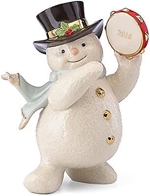 Lenox 2016 Tambourine Snowman Figurine