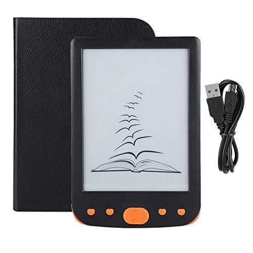Ebook Reader: Display ad Alta risoluzione da 6 Pollici, Schermo E-Ink, Massimo 32 GB(橙色)