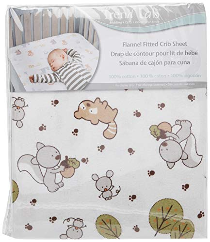 Friendly Forest Deluxe Flannel Fitted Crib Sheet