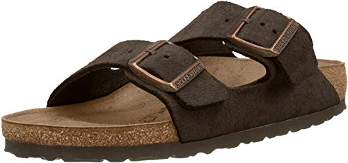 BIRKENSTOCK Arizona - Suede (Unisex) Mocha Suede 40 (US Men's 7-7.5, US Women's 9-9.5) Regular
