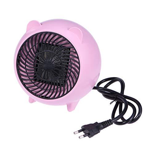 BESPORTBLE Keramik Raumheizung Tragbare PTC-Heizung Thermostat Energiespar Schreibtisch-Heizlüfter für Office Home Persönliches Bad (Rosa Mit Eu-Stecker)
