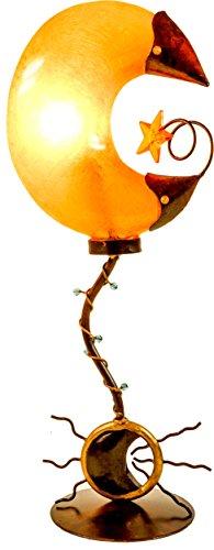 Guru-Shop Tafellamp Kokopelli Maanlamp H1073, Geel, Glasvezel, 54x22x15 cm, Kleurrijke en Exotische Tafellampen