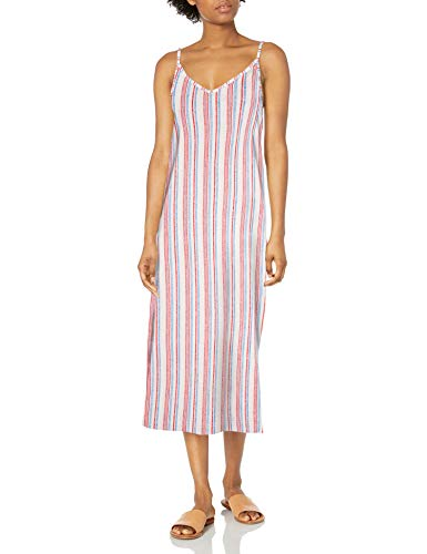 Roxy Damen Avila Beach Dress Freizeitkleidung, Blue Heaven Stars Stripes, X-Klein