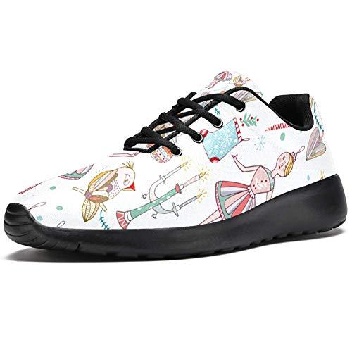 TIZORAX Laufschuhe für Frauen Mädchen Eulen Spielzeug Mode Sneakers Mesh Atmungsaktiv Wandern Tennis Schuh, Mehrfarbig - mehrfarbig - Größe: 39 EU