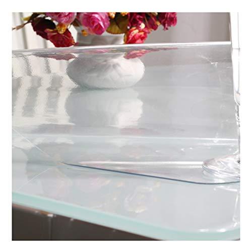 Mantel Transparente Mantel De PVC A Prueba De Agua Y Aceite 1,5 Mm, 2 Mm Tapete De Mesa Resistente Alfombrilla Antienvejecimiento para Mesa De Centro Manteles (Color : 1.5mm, Size : 80X140cm)