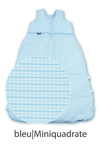 Aro Artländer 874770 Gigoteuse en duvet 130 cm, mini carrés bleu