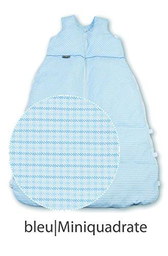 Aro Artländer 874770 Winter-Daunen-Schlafsack 130 cm, Mini-Quadrate, blau