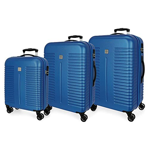 Trolley-kofferset, robuust, 55 – 70 – 80 cm, blauw
