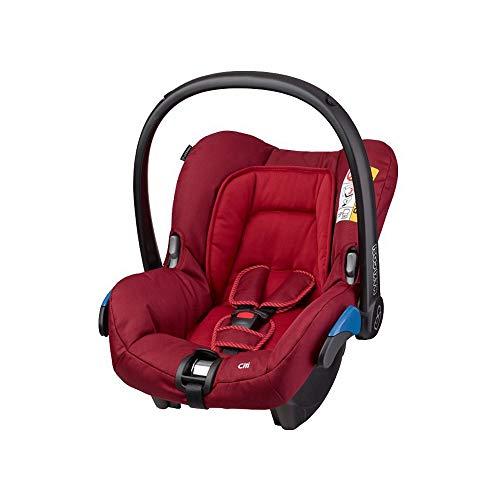 Maxi-Cosi Citi Babyschale, federleichter Baby-Autositz Gruppe 0+ (0-13 kg), nutzbar ab der Geburt bis ca. 12 Monate, Robin Red (rot)