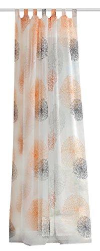 Home Fashion Cortinas con trabilla, Tela, Naranja