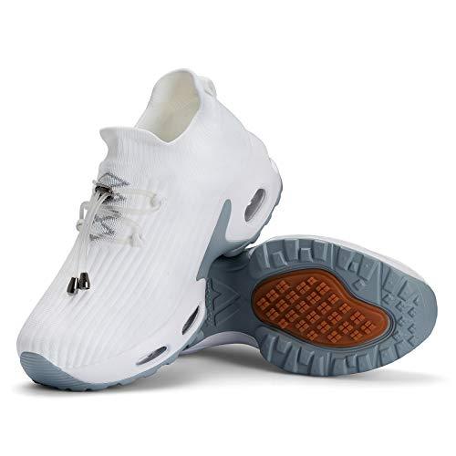 Mishansha Zapatillas Deportiva Mujer Deportes Running Zapatos Ligero Transpirable Correr Gimnasio Bambas Blanco A, Gr.40 EU