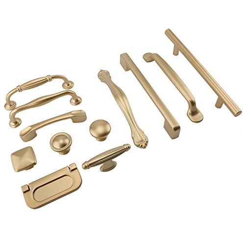 1 Uds., Manijas de gabinete de oro mate, manijas de armario de cocina de aleación de aluminio sólido, tiradores de cajones, manijas de muebles, hardware, AB41,2
