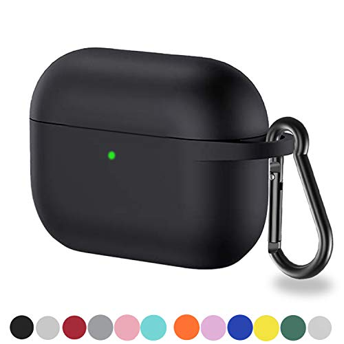 Henstar AirPods Pro Case Silicon Protective Cover Front LED VisibleCompatible with Apple AirPods Pro Black1