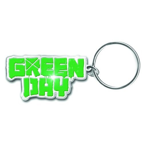 Green Day Band Name Logo Metal Detailed Keychain Keyring Fan Gift Idea Official