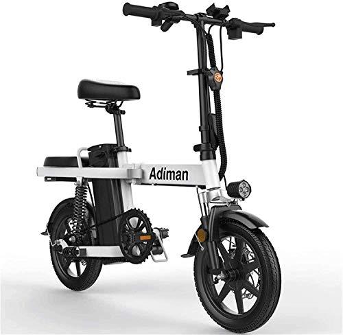 MQJ Ebikes Bicicletas Eléctricas Rápidas para Adultos Mini Bicicleta de Scooter Pequeño, Bicicleta Eléctrica Plegable, Batería de Litio para Hombres Y Mujeres Adultos Ultra Liviana Y Conveniente E-Bi