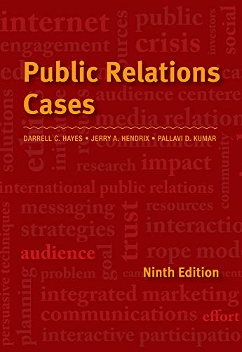 Compare Textbook Prices for Public Relations Cases 9 Edition ISBN 9781111344429 by Hendrix, Jerry A.,Hayes, Darrell C.,Kumar, Pallavi Damani