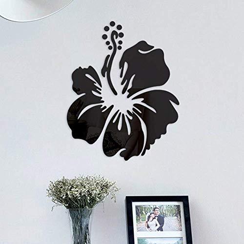Patrón De Flores Etiqueta De La Pared Decoración Para El Hogar 3D Tatuajes De Pared Arte Diy Espejo Pegatinas De Pared Decoración De La Sala De Estar 30X37Cm
