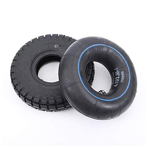 Neumáticos scooter eléctrico Ruedas duraderas, 4.10 / 3.50-4 Neumáticos inflables interiores y exteriores, antideslizante y alta resistencia a la abrasión, adecuado para 3 ruedas eléctricas, carros a