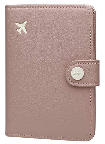 Zoppen Passport Cover Rfid Blocking Travel Passport Wallet Slim Id Card Case (#33 Dusty Pink)
