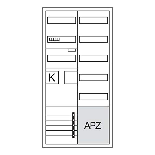 Hager Komplettschrank, Univers Z ZB32ET215W1 1 ZP,BKE-I,APZ,VT5 Zähler-Komplettschrank 3250617651004