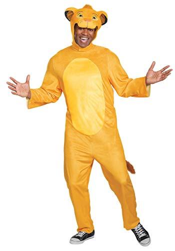 Lion King Animated Adult Simba Jumpsuit Costume Small/Medium