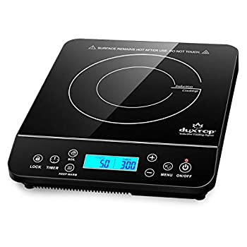 Duxtop Portable Induction Cooktop Countertop Burner Induction Hot Plate with LCD Sensor Touch 1800 Watts Black 9610LS BT-200DZ