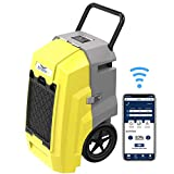 AlorAir Storm Pro Smart WiFi Dehumidifier, 85 PPD Commercial Dehumidifier with Pump, cETL listed, LCD Display, Auto Shut Off, 5 Years Warranty, Industrial dehumidifier for Disaster Restoration, Yellow