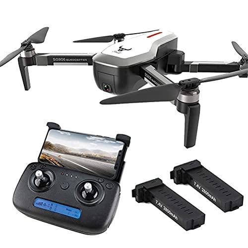 RC Drone Quadcopter, Drone GPS Plegable con cámara 4K HD para Adultos, Transmisión en Tiempo Real 5G WiFi FPV, Tiempo de Vuelo de 50 Minutos (25 + 25) con Maleta Retorno de una tecla (Color: