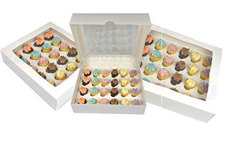 Caja para 24 cupcakes con ventana y separador (10 unidades)