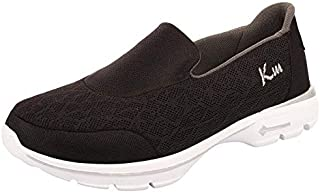 KazarMax Women's Black & Grey Light Weight Slipon's Walking Sneakers (Washable with Quick Dry Fabric)