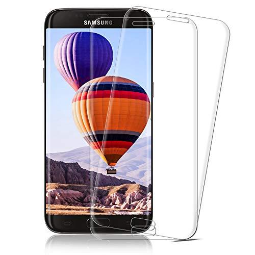 [2 Pack] Verre Trempé pour Samsung Galaxy S7 Edge, [3D Couverture Complète] Films de Protection d'Ecran en Verre Trempé, Dureté 9H, Anti-Empreintes Digitales pour S7 Edge – Transparent