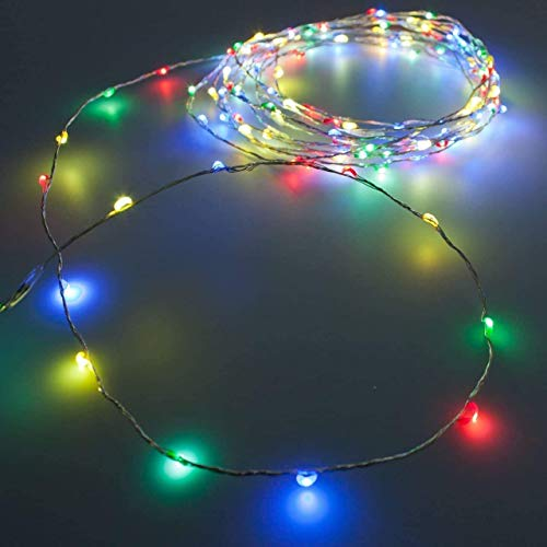 320 luces LED multicolor plateadas para interior y exterior IP44 – 31,90 m – Luces de Navidad...