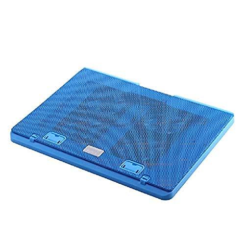 Haohaojia Base Refrigerante para Profesionales Almohadillas de enfriamiento para portátiles 15.6'-17' Laptop Cooler Cooling Pad Slim Portable USB Powered (4 Fans) Soporte de Montaje Ajustable, Blue