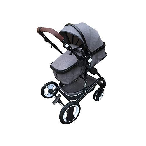 """Kinderwagen """"California"""", 3 in 1 Kombikinderwagen inkl. Babywanne, Sportwagen & Zubehör, zertifiziert nach der Sicherheitsnorm EN1888, Grau"""