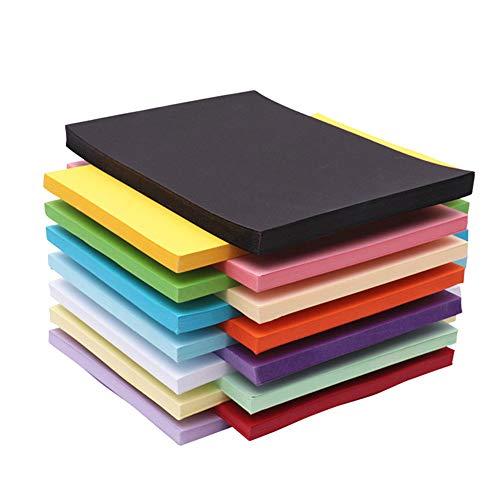 A4 Gekleurde kaart 120 vel Pack 230gm dikker schets en snijpapier, Crafting and Decorating Gekleurd papier geweldig voor kunst en ambachten - 12 verschillende kleuren