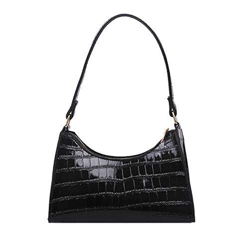Huante - Bolsas de la compra para damas, bolsos de mano para mujer, bolsos de mano de chakra, bolsos para ajlas, bolsos para mujer, pequeños, cuadrados, color negro, Negro (Negro ), Taille Unique