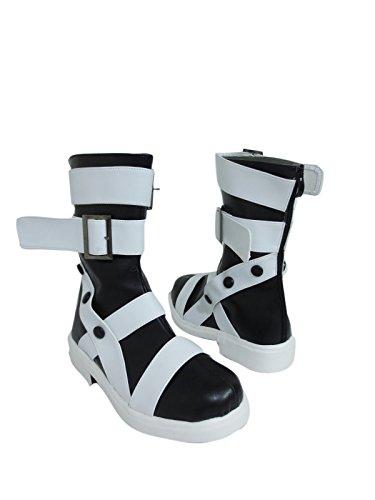 YuanCos Maka Albarn Scythe-Meister White Halloween Cosplay Shoes (Female US 7.5/EU38.5)