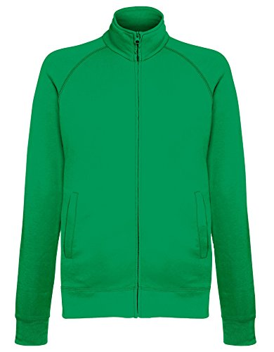 Fruit of the Loom Leichte Sweatjacke - 14 Farben / Größe SML- - Bottle Green - M