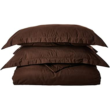 Nestl Bedding Duvet Cover, Protects and Covers your Comforter/Duvet Insert, Luxury 100% Super Soft Microfiber, King Size, Color Chocolate Brown, 3 Piece Duvet Cover Set Includes 2 Pillow Shams