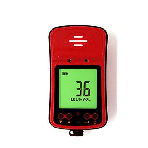 Red tide Detector De Gas Combustible, La Pantalla LCD/Alarma De Vibración Acústico-Óptico/Alarma Gas Natural Sensor Electroquímico, Adecuado para Experimentos Químicos, Tuberías De Drenaj