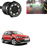 KANDID 38 LED 170 Degree Round Back Up Cameras Car Rear View Camera Night Vision Reversing Auto Parking Waterproof Monitor Camera for Volkswagen Polo Cross