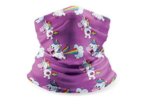 """GO CRAZY Multifunktionstuch Loop Schal Kinder """"Unicorn"""" - Schlauchschal Mundschutz - Schal Damen - Face Shield - Damenschals und Tücher Winter (Einhorn lila)"""