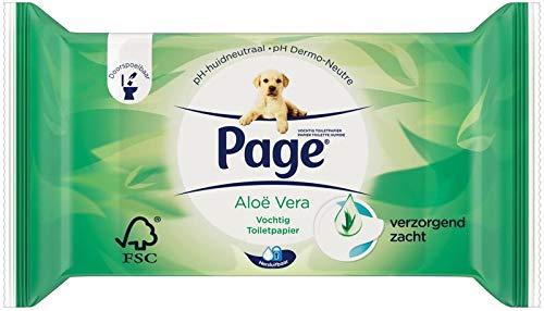 Page Vochtig Toiletpaper Aloe Vera Navulling, 42 Stuk