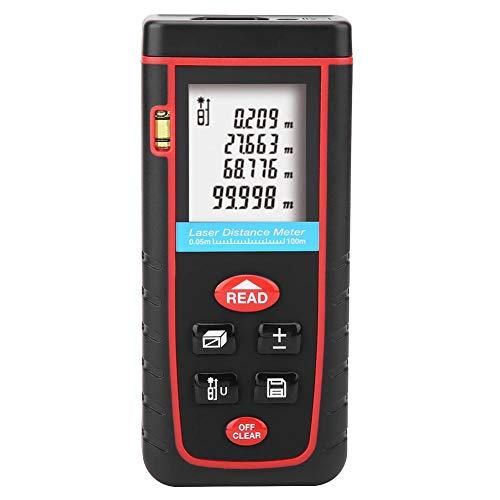 Medidor de distancia láser digital, telémetro, dispositivo de cinta métrica duradera, telémetro láser, telémetro de 100 m, industrial sensible para el hogar