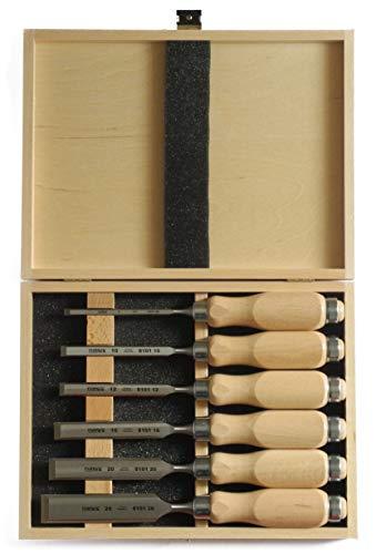 Narex Stechbeitel Set mit Holzheften im Holzkoffer, 6-teilig