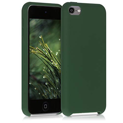 kwmobile Hülle kompatibel mit Apple iPod Touch 6G / 7G (6. und 7.Generation) - Handyhülle gummiert - Handy Case in Dunkelgrün